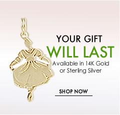 14 karat gold and sterling silver charms